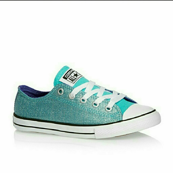 Converse Shoes | Sparkly Blue All Star