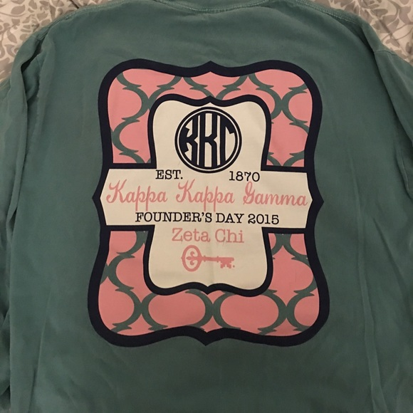 b433ae5ab18d Comfort Colors Tops - Kappa Kappa Gamma Founder s Day Comfort Colors Tee