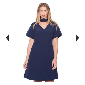 Brand new never worn eloquii navy blue dress