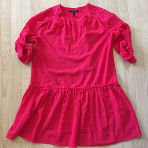 BCBG Maxazria Drop Waist Hot Pink Tunic