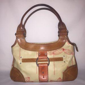 Orla Kiely Handbags - Orla Kiely Red Flower Stem Shoulder Bag Coated