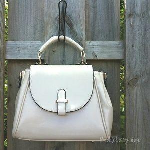 Traum Starter  Handbags - Women's Soft White PU Leather Satchel Purse BNWT