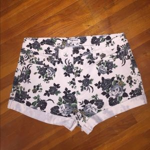 Forever 21 Pants - White Floral Shorts