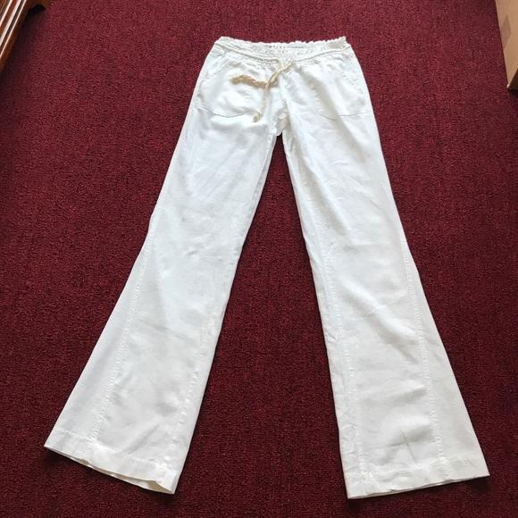 e3d19dabc5 Roxy white linen pants. M_5934bfa956b2d64b6102c3fc