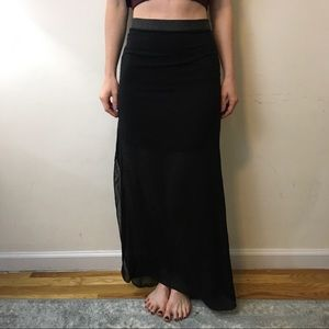 Robert Rodriguez Dresses & Skirts - Robert Rodriguez Half Sheer Black Maxi Skirt