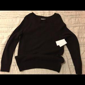 Equipment Femme black cashmere blend sweater NWT