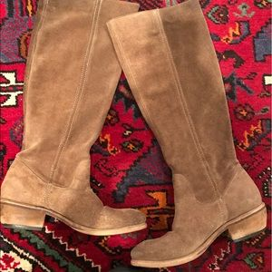 Bronx suede riding boots