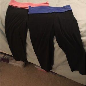VS PINK yoga pants- 2 pairs. Size S