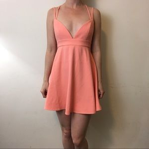 Naven Dresses & Skirts - NWT NBD x Naven Twins Salmon Skater Dress