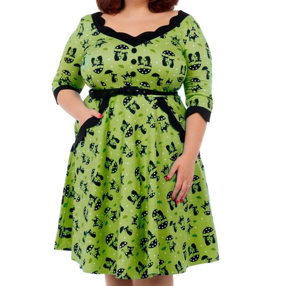 Voodoo Vixen Pin Up Clothing Dress Plus Size Girl NWT