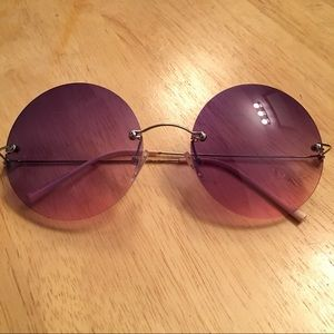 Other Accessories - Round Purple & Pink Glasses