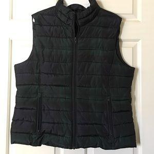 LOFT Jackets & Blazers - NWT Green/Navy Puffer Vest