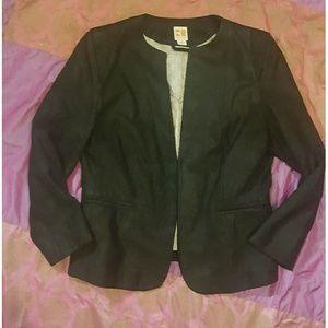 BOSS ORANGE Jackets & Blazers - Boss Orange Black Suede Leather Jacket M