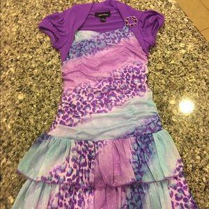 Amy's Closet Other - Girls size 6 purple & blue sparkle dress