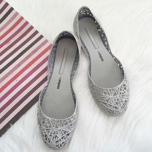Melissa Shoes - Melissa Campana Zigzag Glitter Flats