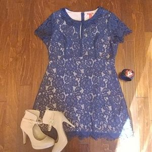 Chelsea & Violet Dresses & Skirts - 🆕 (Dillard's)Navy lace dress with collar