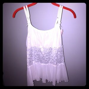 cabernet Other - Cabernet white lace middle tank top