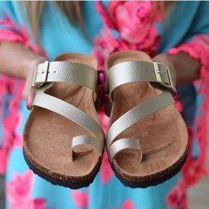 BC Footwear Shoes - BC footwear metallic sandal