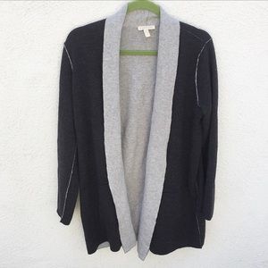 Eileen Fisher Gray Opened Colorblock Cardigan