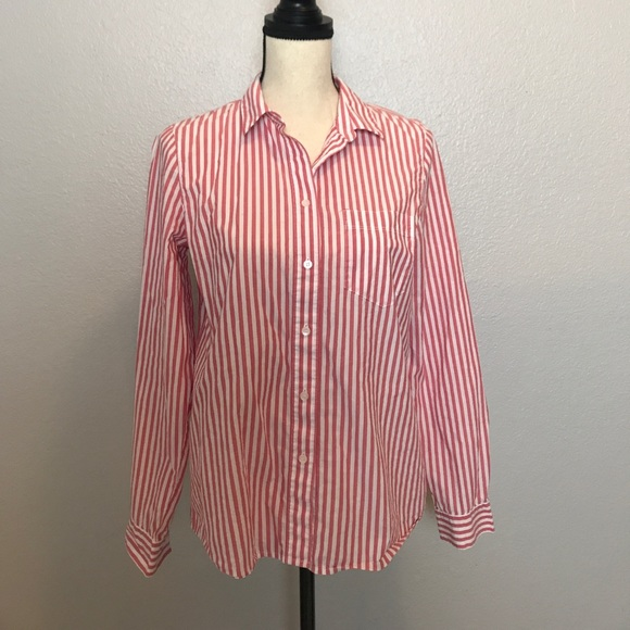 Madewell Madewell Pink And White Striped Shirt From Yen