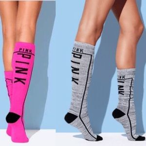 VS PINK tall socks (both)