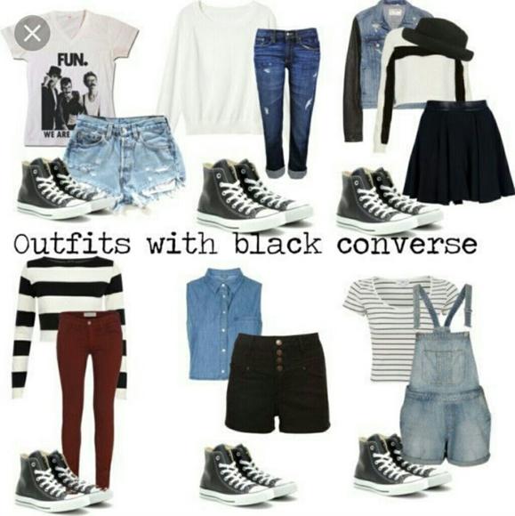 7210d98bb50c Converse Shoes - Black high top converse (5.5 women 3.5 men)