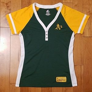 Majestic Tops - Oakland A's Jersey Top