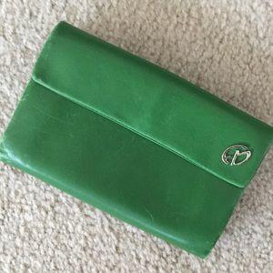 Francesco Biasia Handbags - Francesco Biasia Soft Green Leather Wallet/Clutch