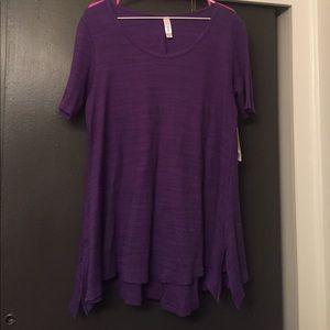 LuLaRoe Tops - Purple Ribbed LulaRoe Perfect Tee