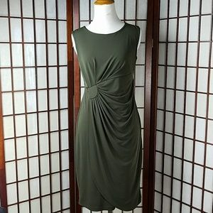 En Focus  Dresses & Skirts - En Focus Dark moss green Sleeveless Draped Dress