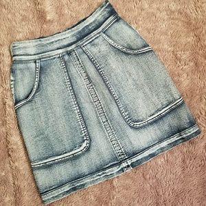 NWOT, High-waist, Acid washed, skirt