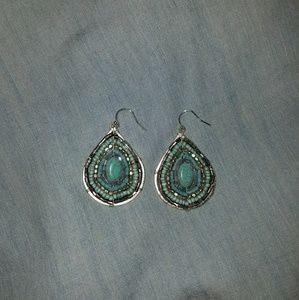 Jewelry - Never worn Festival turquoise earrings