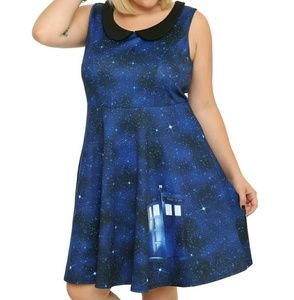 Hot Topic Dresses & Skirts - Hot Topic Dr. Who Galaxy Dress Plus Size 2XL XXL
