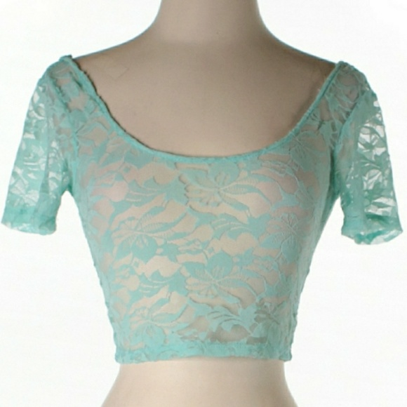 e27a8fe63d Emma   Sam Short Sleeve Lace Crop Top
