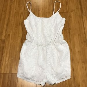 Ambiance Apparel Pants - Ambiance Apparel White Laced Romper