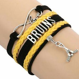 Jewelry - Boston Bruins Bracelet- NHL Bracelet