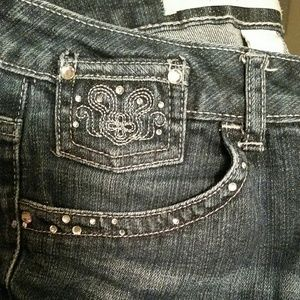 Limited Too Emroidered/Rhinestone Bling Jeans