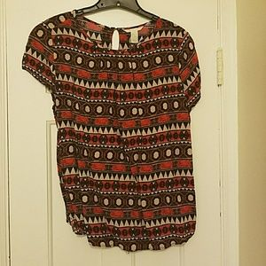 Lively tribal print H&M blouse