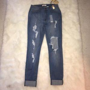 Vibrant MIU High Waist Skinny Jeans