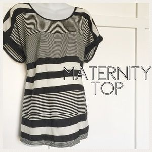 Oh Baby by Motherhood Tops - Maternity silky striped top size large