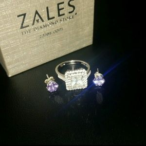 Zales Jewelry - Beautiful Engagement Ring bundled with Earrings