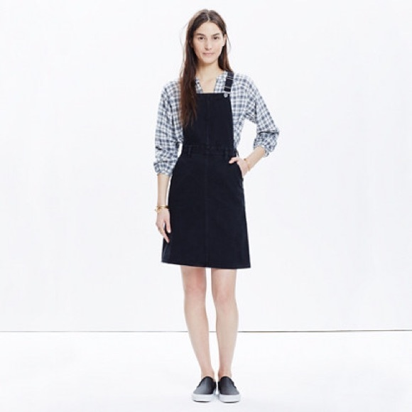 f5298876e1 Madewell Dresses   Skirts - Madewell denim jumper dress in washed black