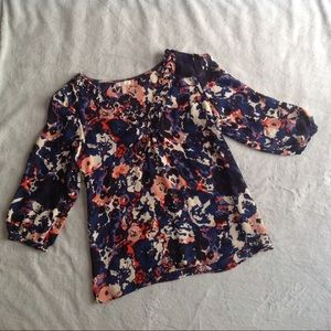 Joie Tops - Joie Reed Floral Silk Blouse