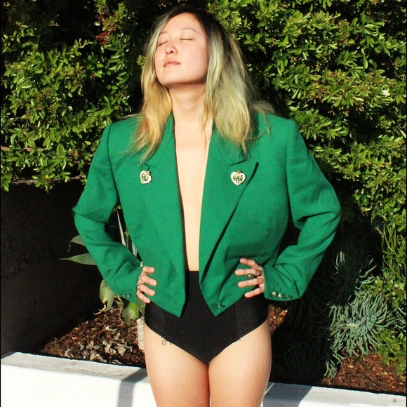 Versace Jackets & Blazers - 🔥HOST PICK Authentic VINTAGE VERSACE green blazer