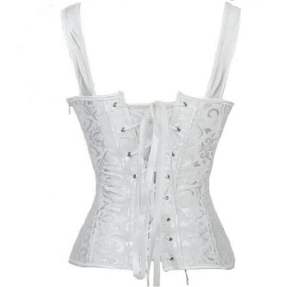 Intimates & Sleepwear - White Corset - Victorian Steampunk or Renaissance