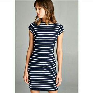 🌟HP🌟 Striped Ribbed Mini Dress