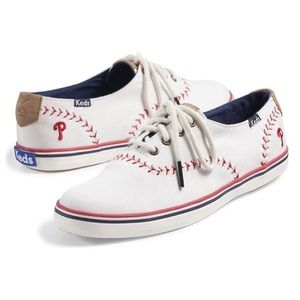 Keds Phillies Baseball Sneakers Size 8
