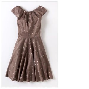 Boden Flowershow Polka Dot Fit & Flare Dress