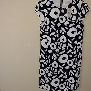 LOFT black & off white dress