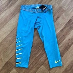 Nike Other - New Nike Men's Blue Compression Cropped Pants